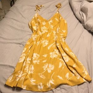 Yellow Summer Boutique Dress Size Large